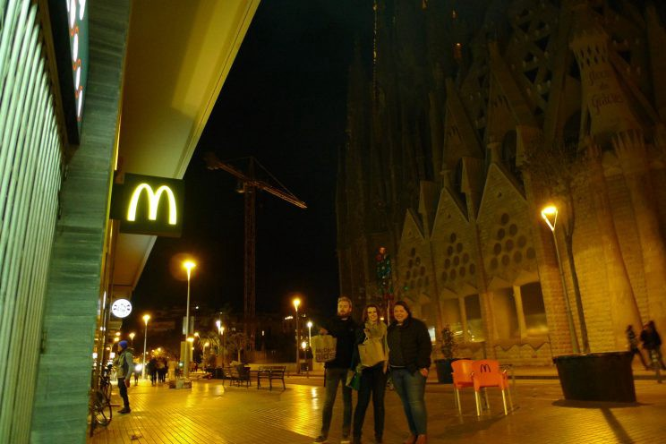 Posing with our late-night McDonald's