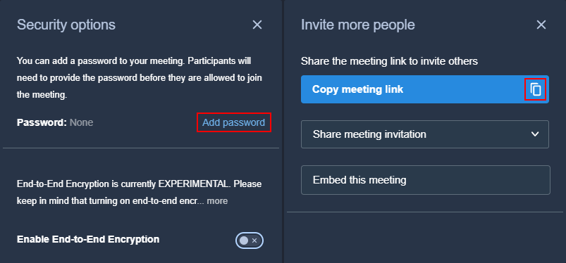 secure jitsi meeting with password