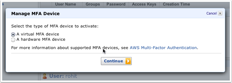 HowTo: Use the Google Authenticator as a virtual MFA Device on the