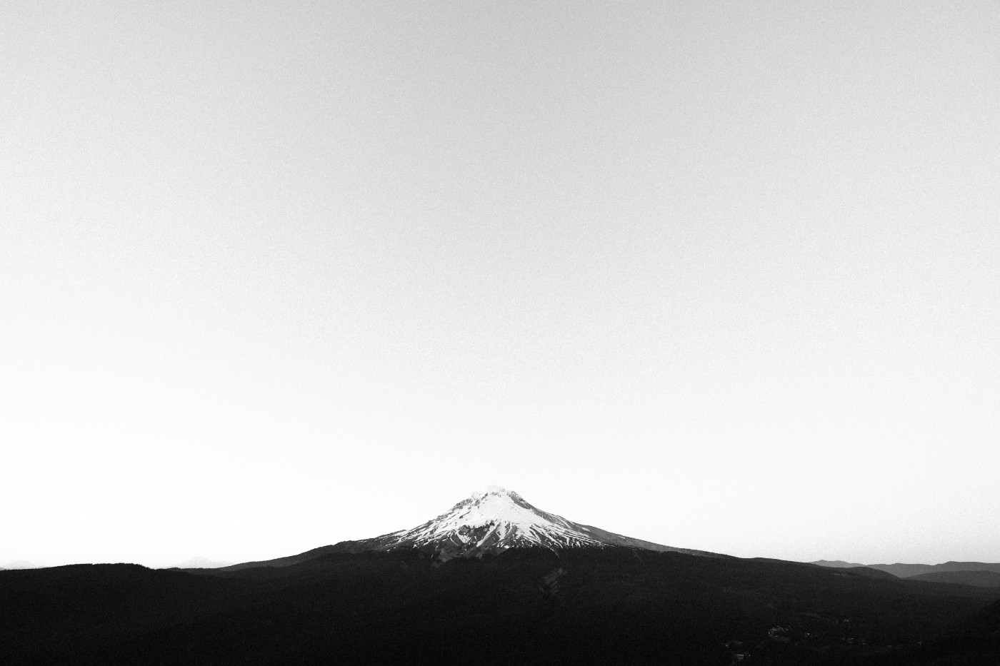 Mountain in black and white