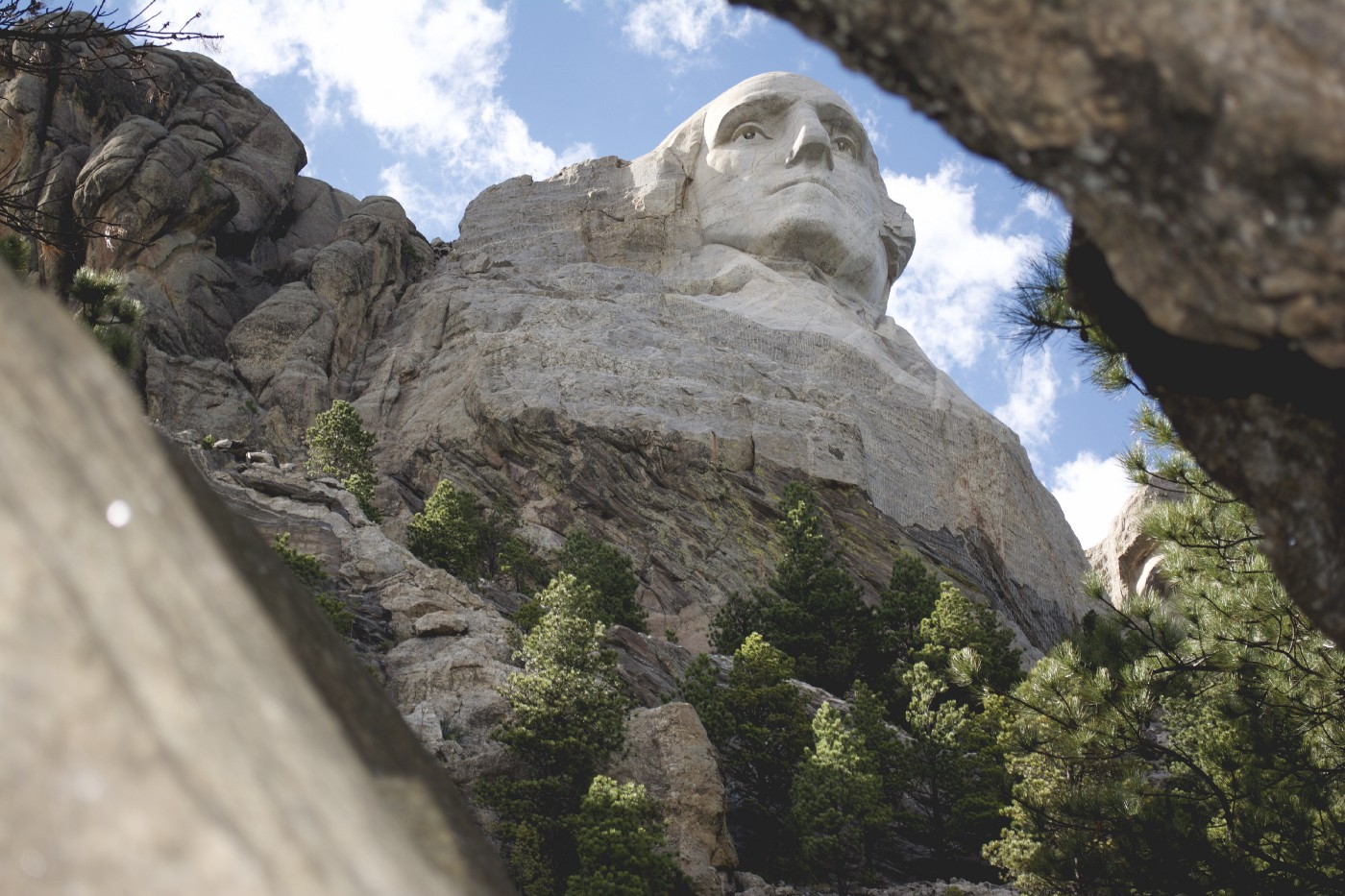 This is a photo of George Washington on Mt. Rushmore.