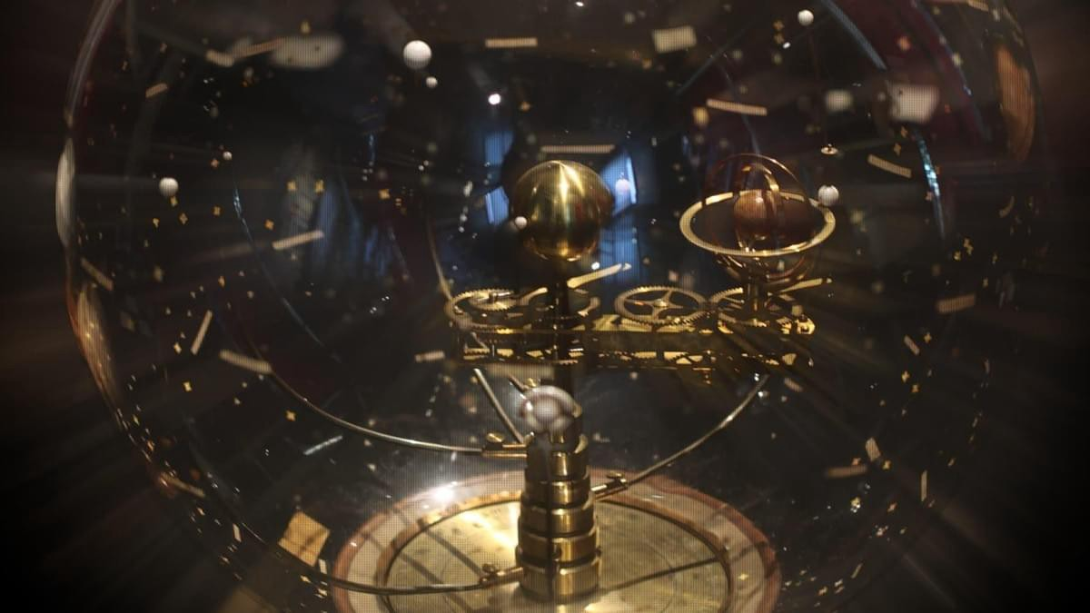 Photograph of Bertaux orrery (by user Rama, licensed under CC3.0)