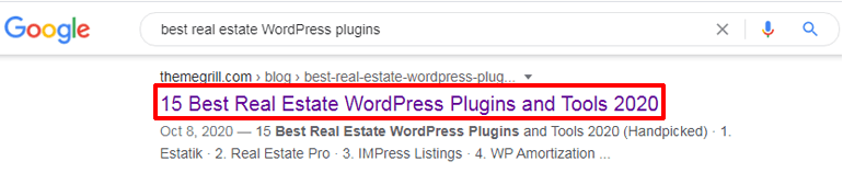 Using Keywords in Title Tags
