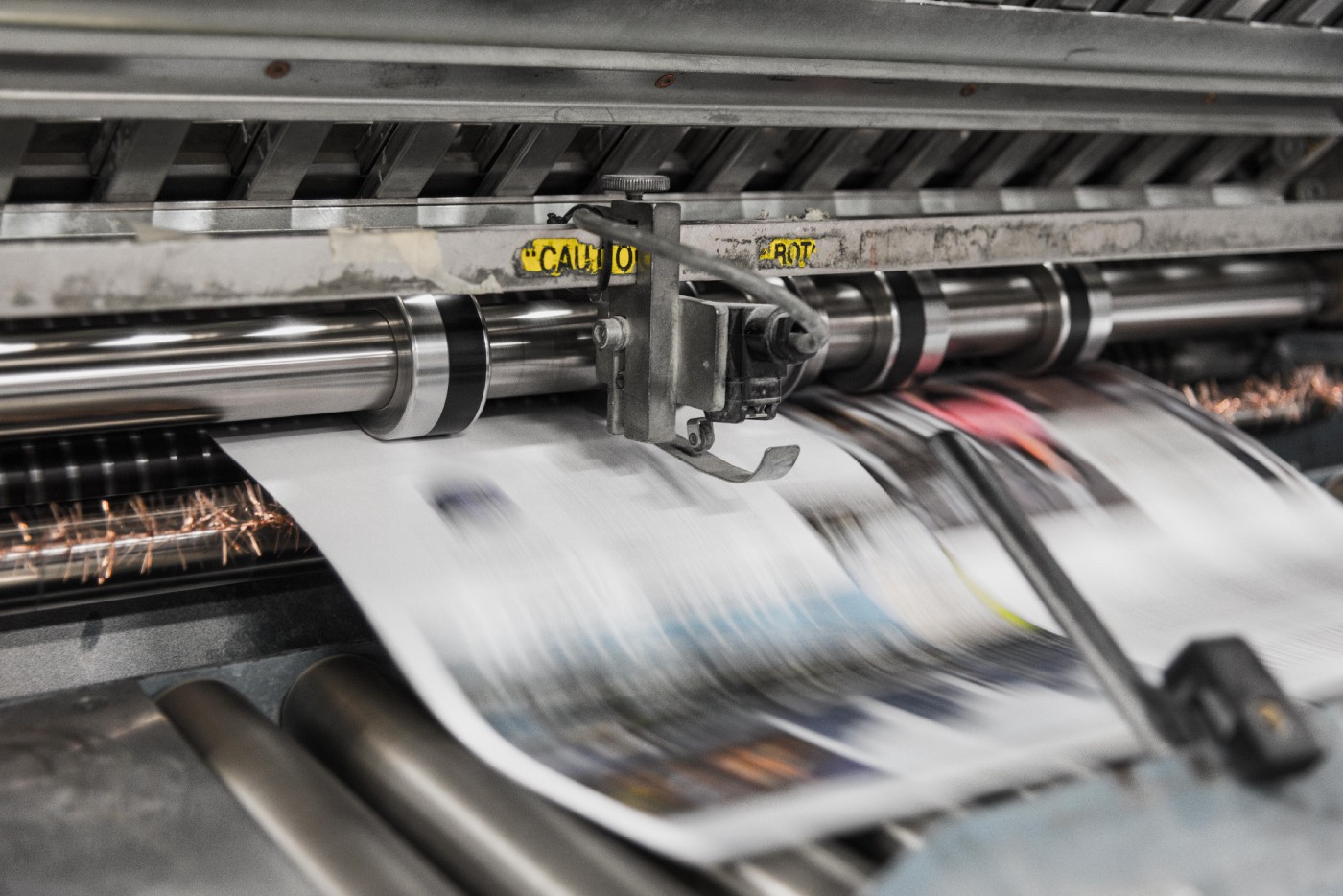 Newspaper presses. Context is king, not content.