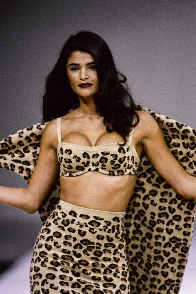 alaia fascination with leopard - 90s fashion