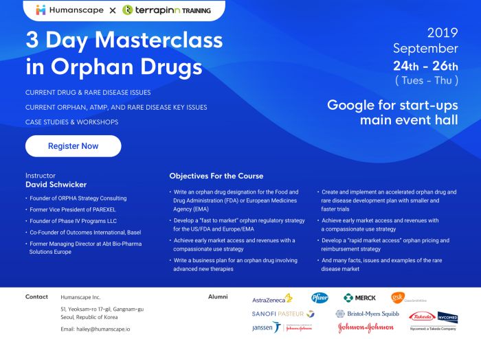 Humanscape hosts '3 day Masterclass in Orphan Drugs'