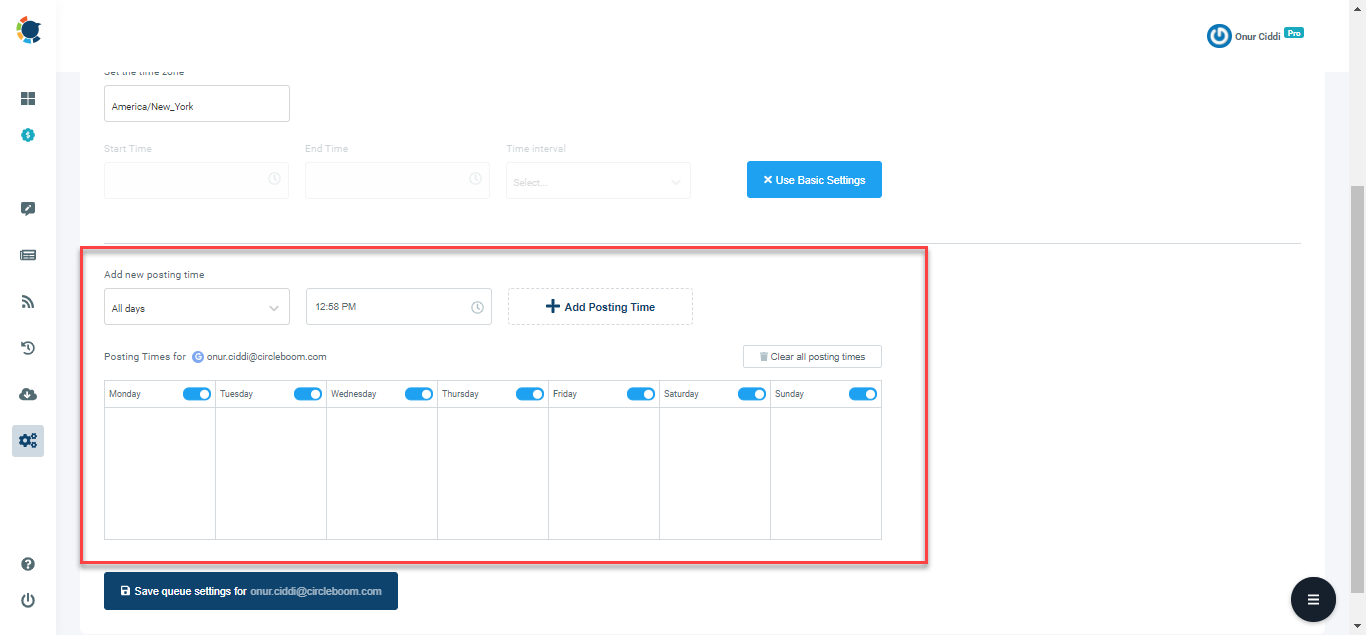You can create a detailed social media calendar with Circleboom's Advanced Plan feature.