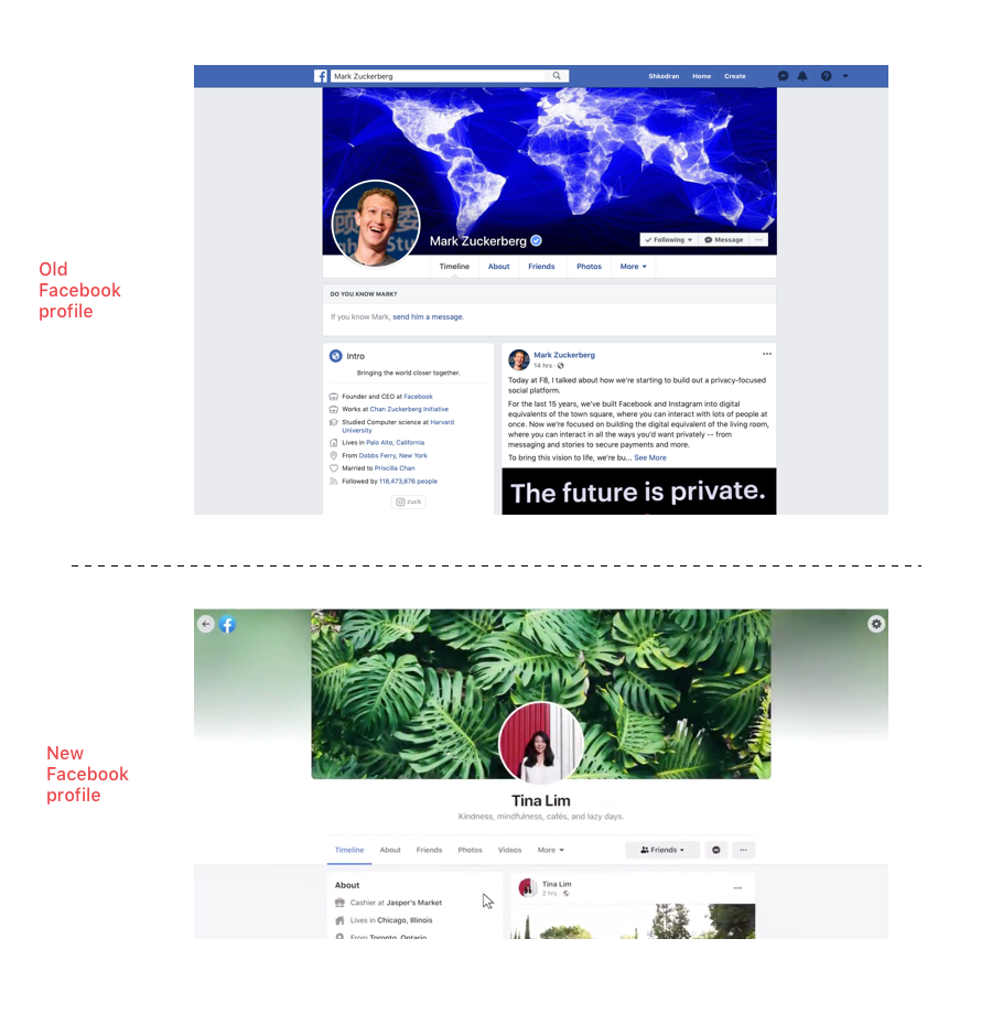 Analyzing Facebook's major redesign, from website to app