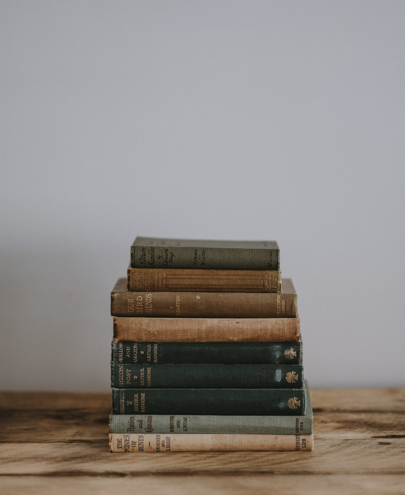 A stack of classic books