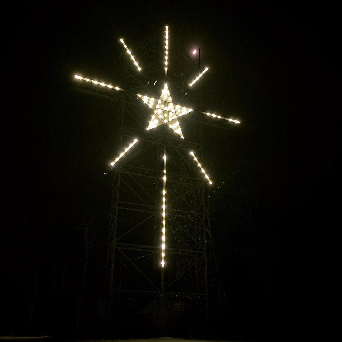 The Star of Bethlehem, Pennsylvania, US on the night of The Great Conjunction, December 21, 2020.