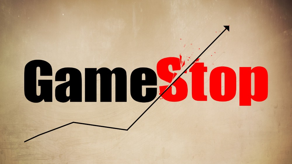 Gamestop stock graph going way up in value