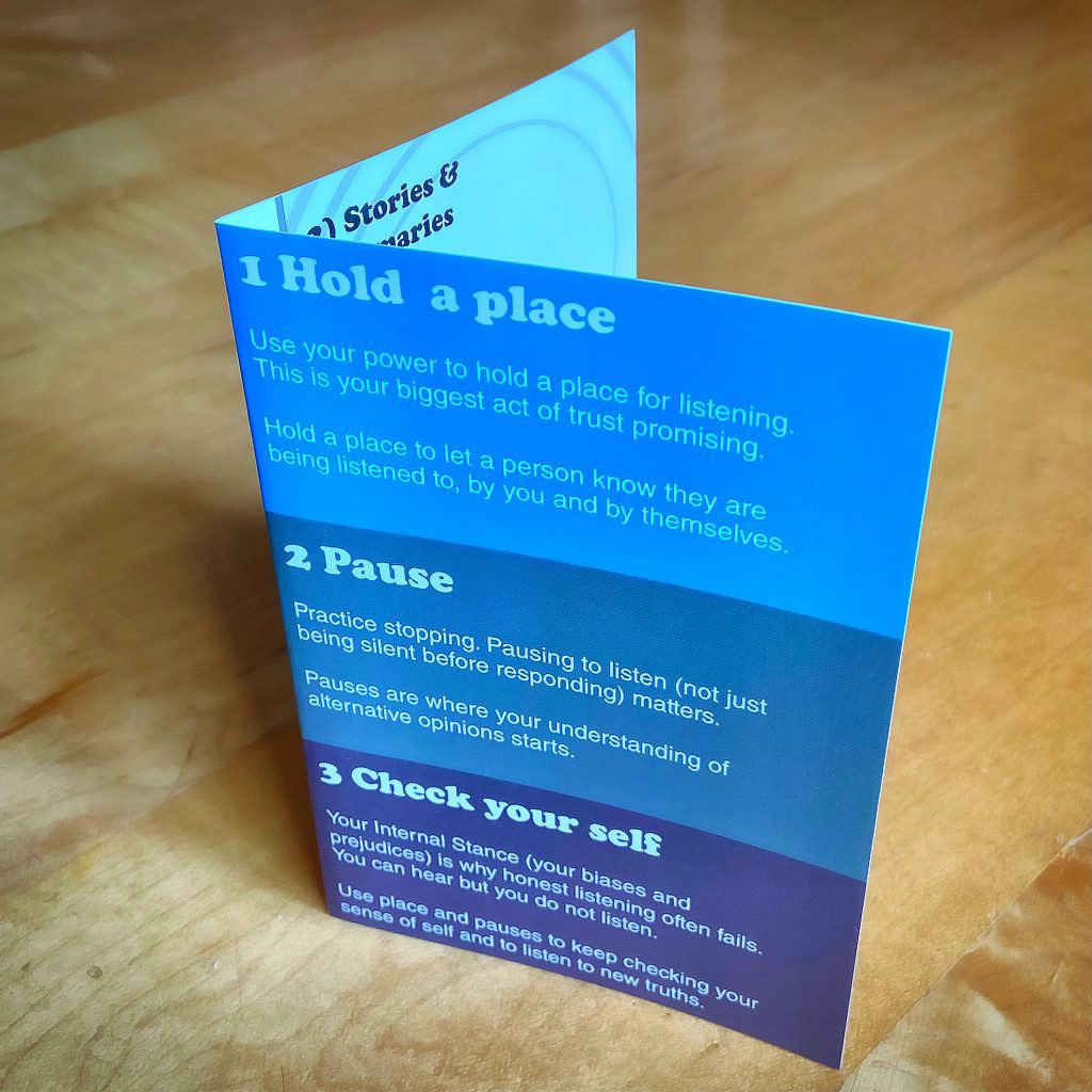 Active Listening card from Hold a place, pause to Check your self