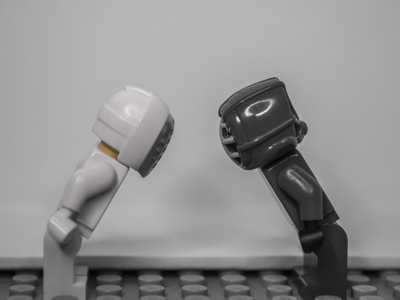 Toys bowing to each other