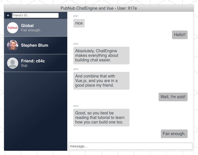 Building A Chatbot with Vue js, ChatEngine, and Amazon Lex