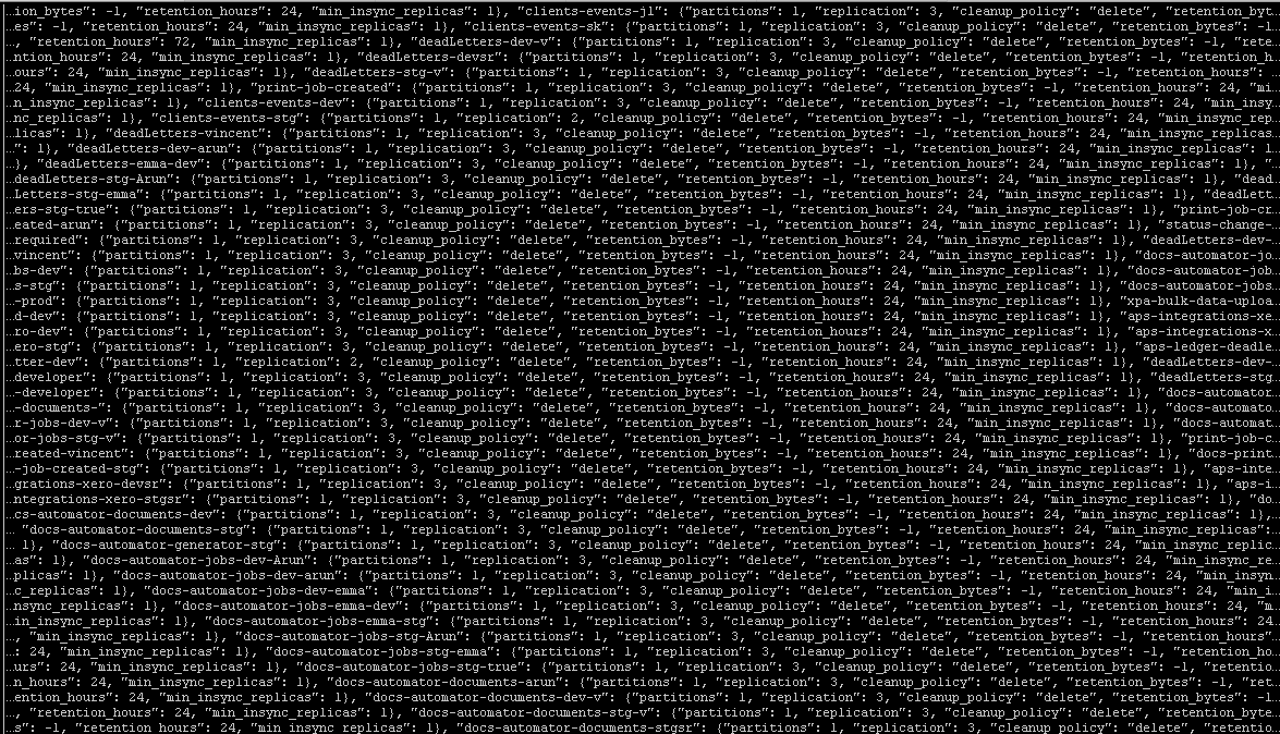 Data appearing as waves