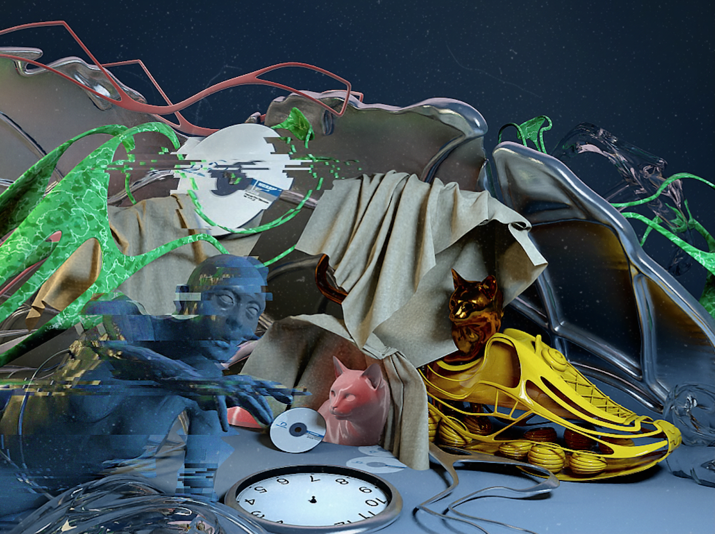 Russian musician and artist Alexey Devyanin, known as Pixelord, is one of today's most popular NFT artists and collaborators. Combining his background in music, 3D designer, and visual art, he creates unique virtual worlds to get lost in. (Work: Pixelord)