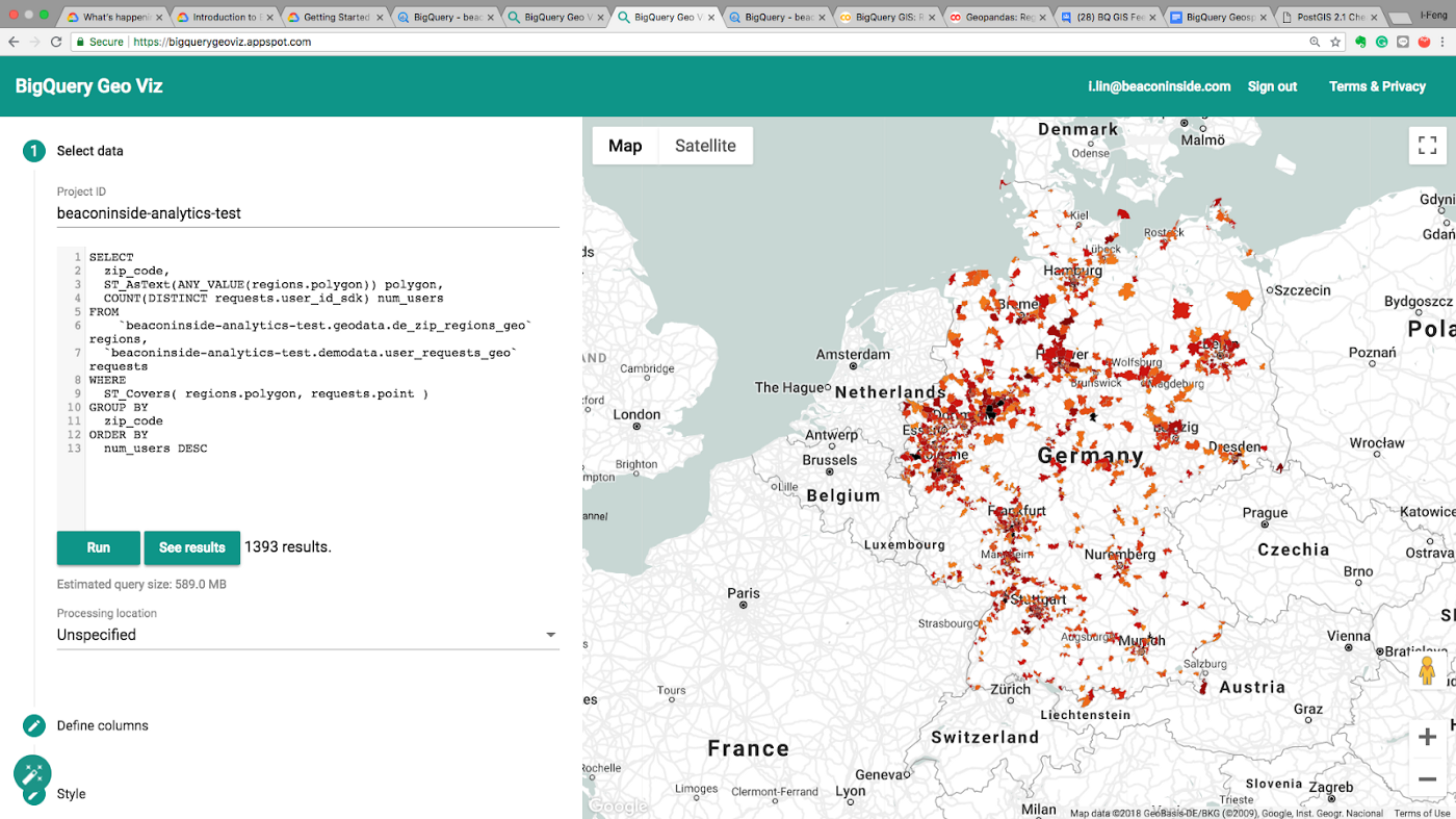 How BigQuery GIS scales up your geospatial projects