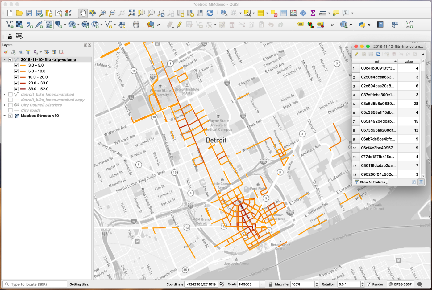 Mobility Metrics Example: How to join street data to scooter trip