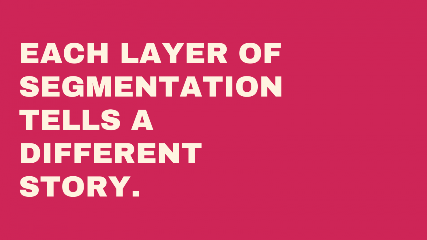 Each layer of segmentation tells a different story.