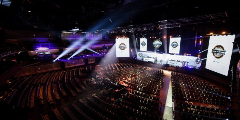 An empty arena in the Call of Duty World League.