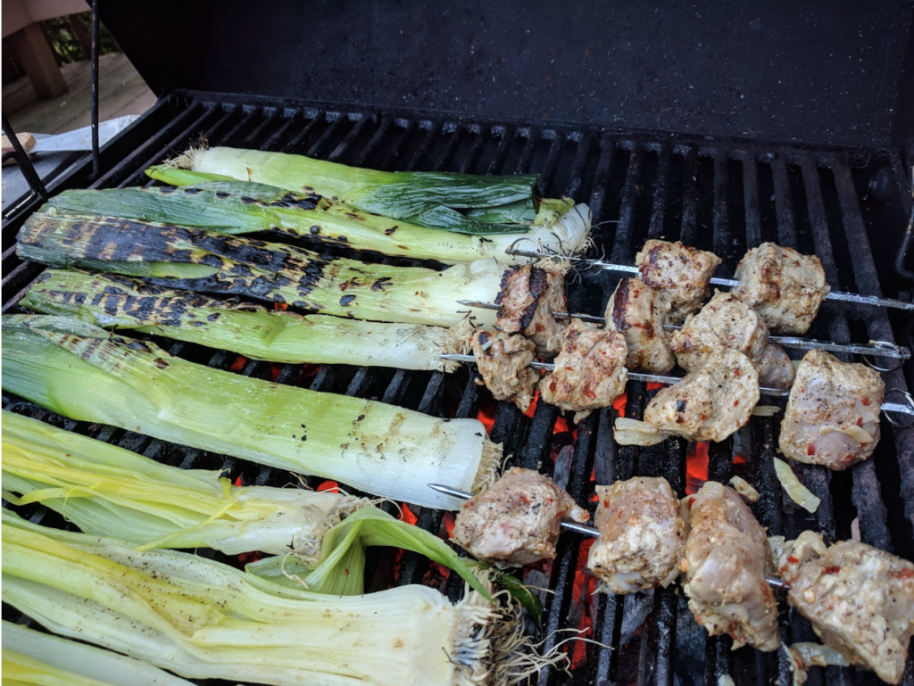 Food on grill, copying recipe from Barcelona