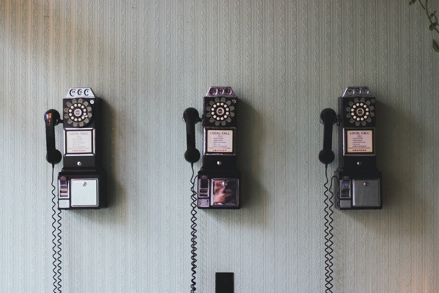 Image of three old fashioned telephones. to show gaathastory podcast production. Blog post by Amar Vyas, June 2021