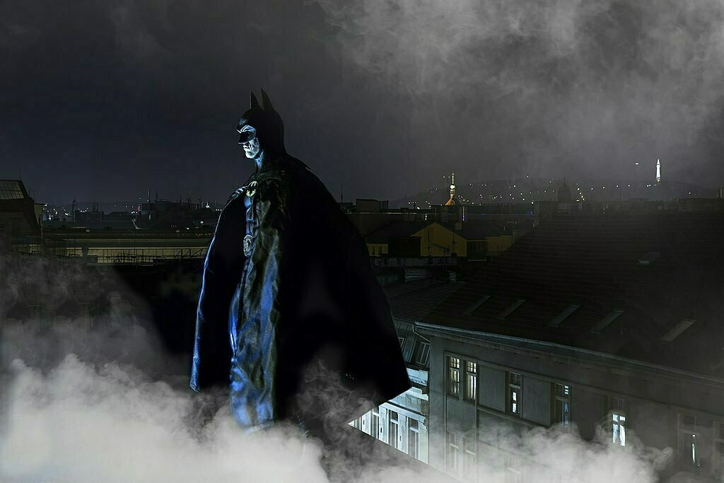Dereck Hard Michael Keaton as Batman photo by Honza Nedoma via Wikimedia Commons