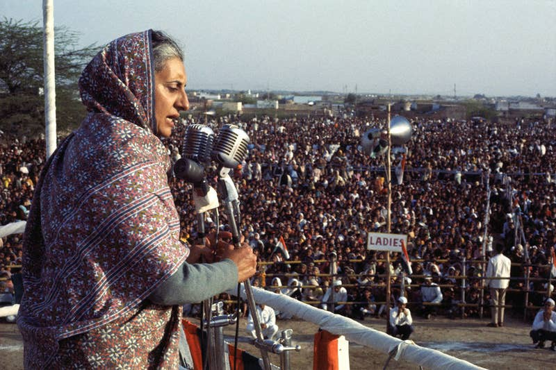Indira Gandhi, the first and only female prime minister of India to date