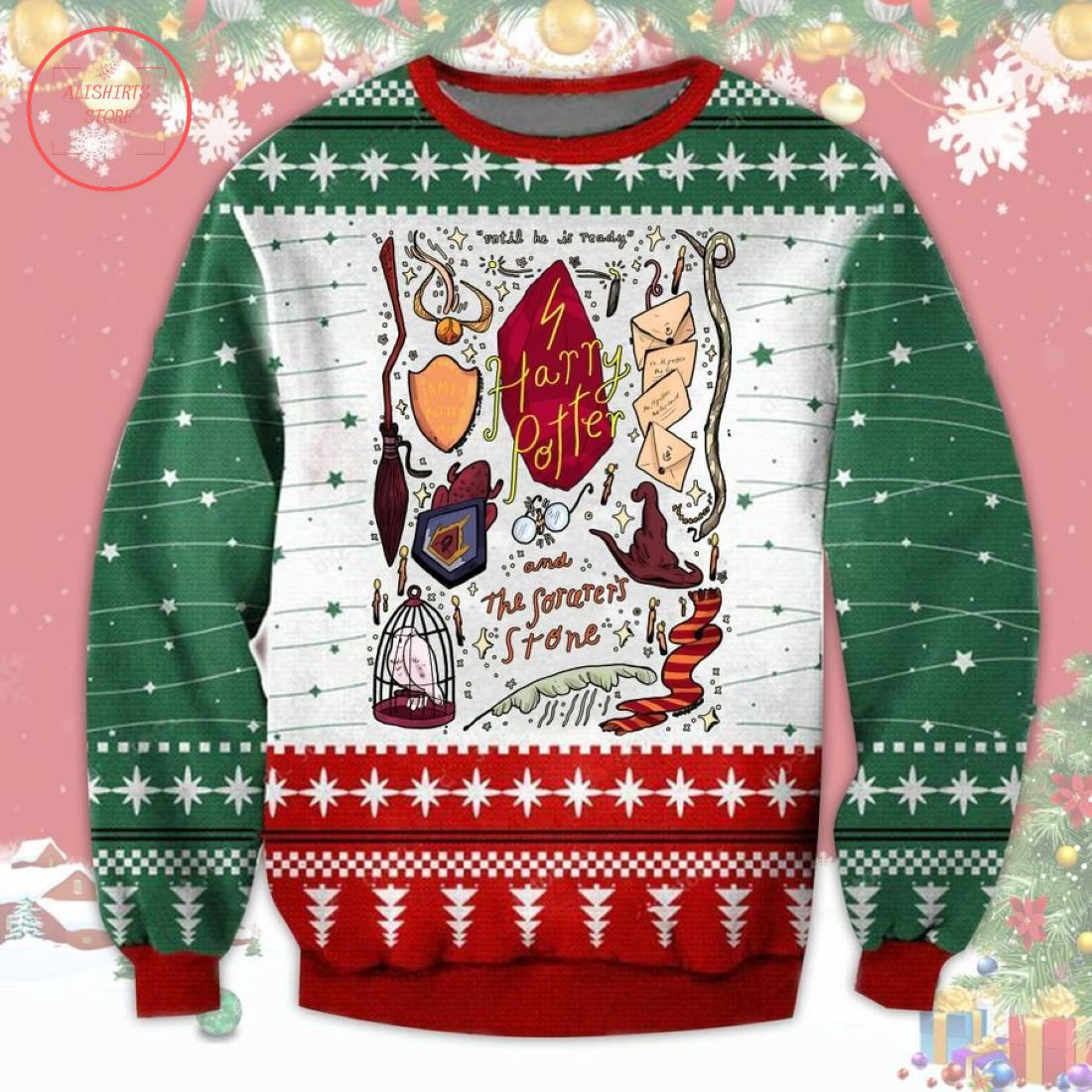 Harry Potter and the sorcerer's stone ugly Christmas Sweater