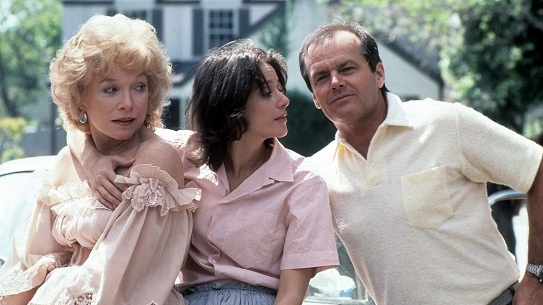 A still of Shirley MacLaine, Debra Winger and Jack Nicholson in Terms of Endearment