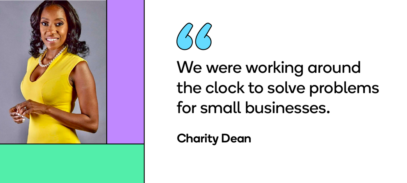 """""""We were working around the clock to solve problems for small businesses,"""" says Charity Dean, a Detroit city official."""