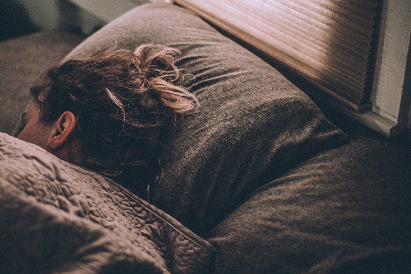 A woman have a good night's rest