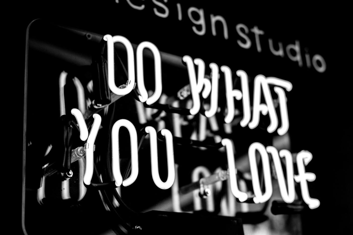 Neon signboard saying do what you love