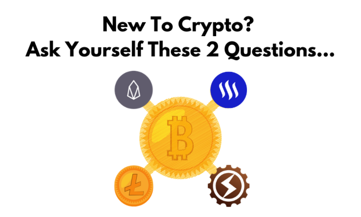 New to crypto  ask yourself these 2 questions...