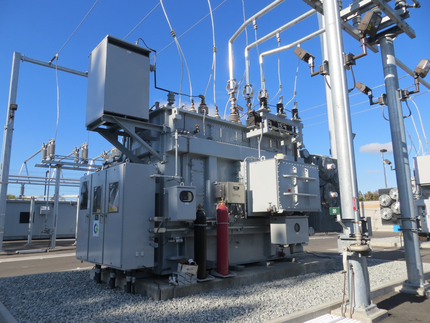 An image of an electrical substation.