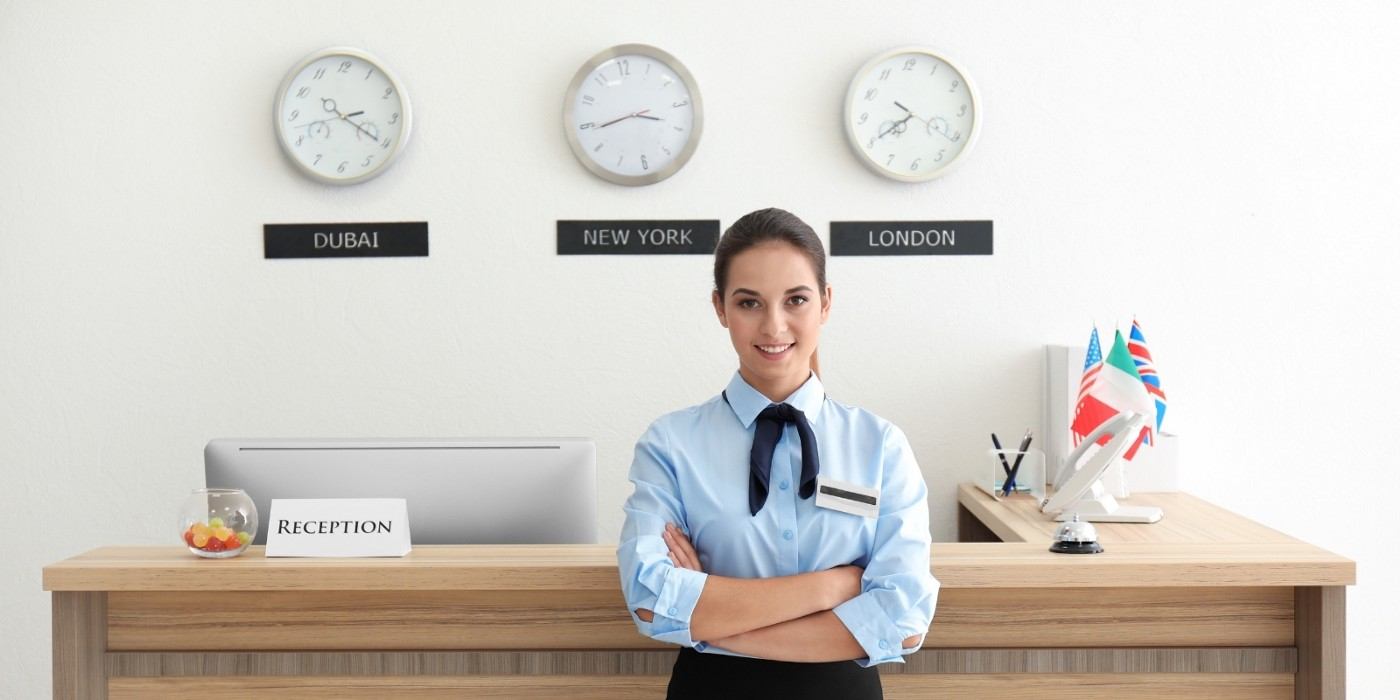 A hotel receptionist
