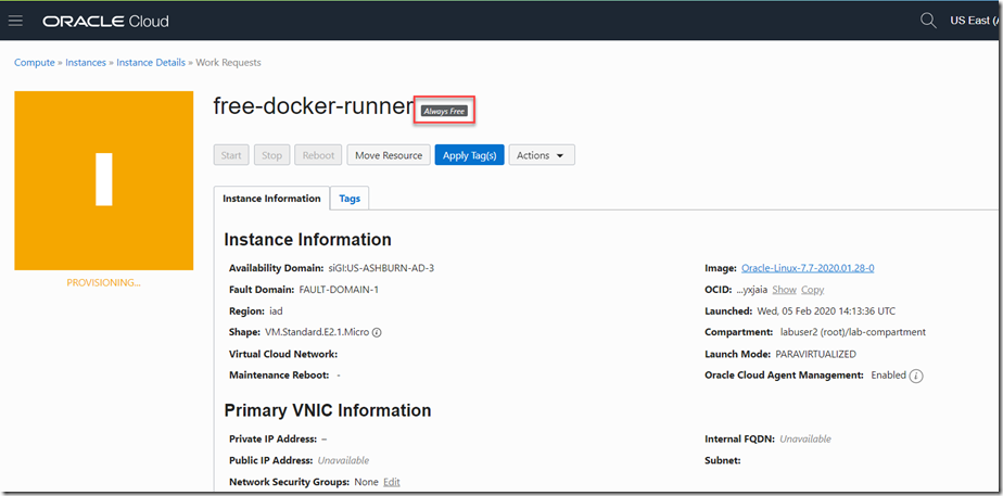 Example of provisioned VM from [Oracle Developer Blog](https://medium.com/oracledevs/run-always-free-docker-container-on-oracle-cloud-infrastructure-c88e36b65610)