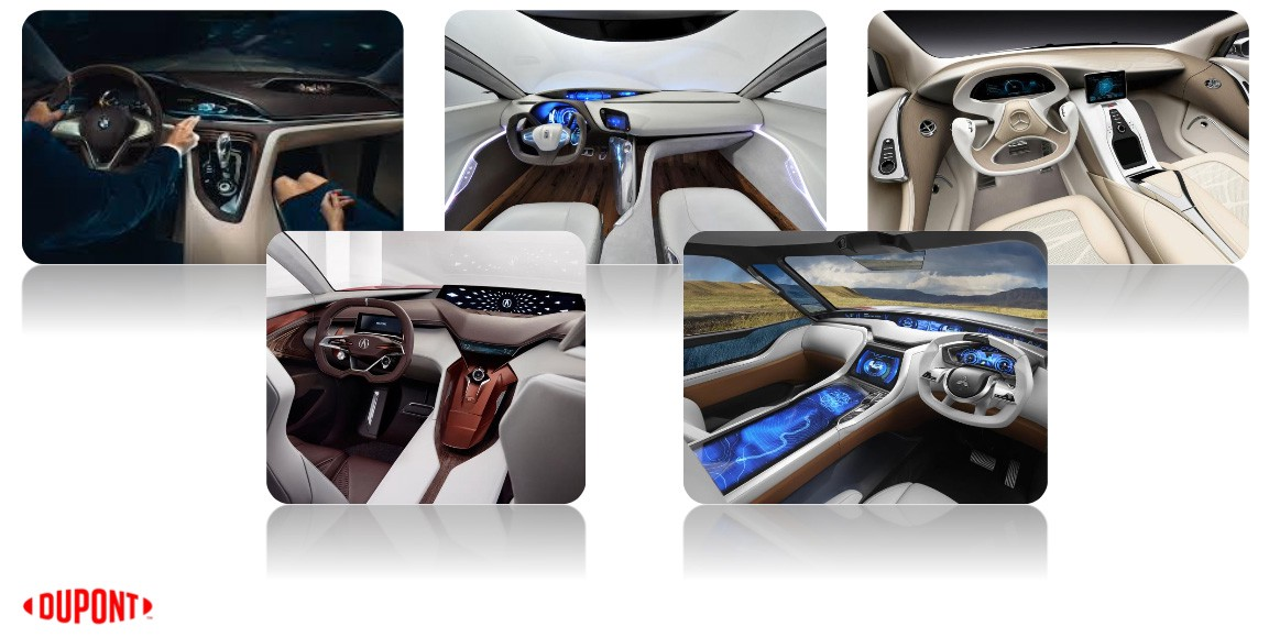 Photos of the future car dashboards
