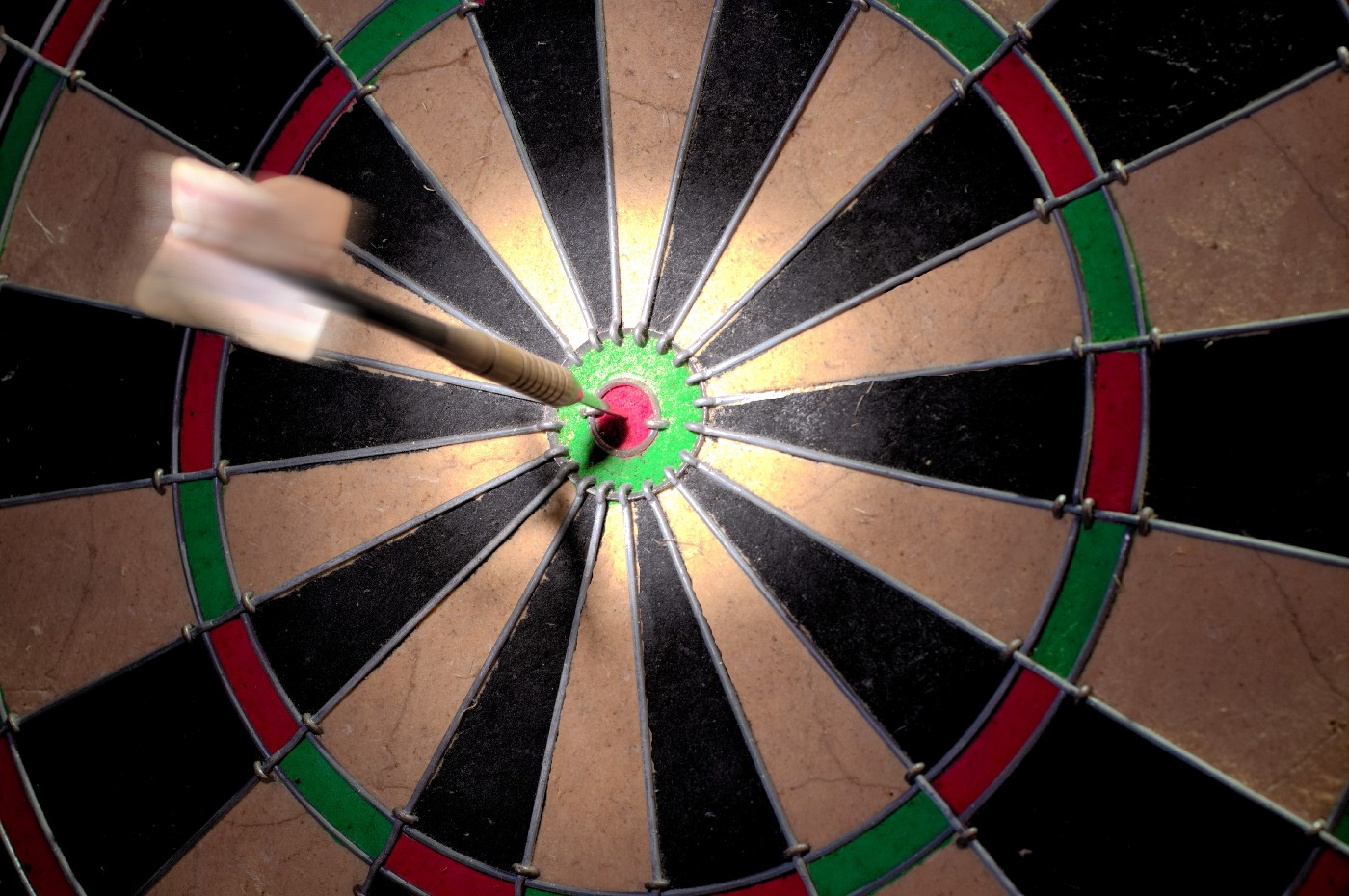 dart stuck in bullseye