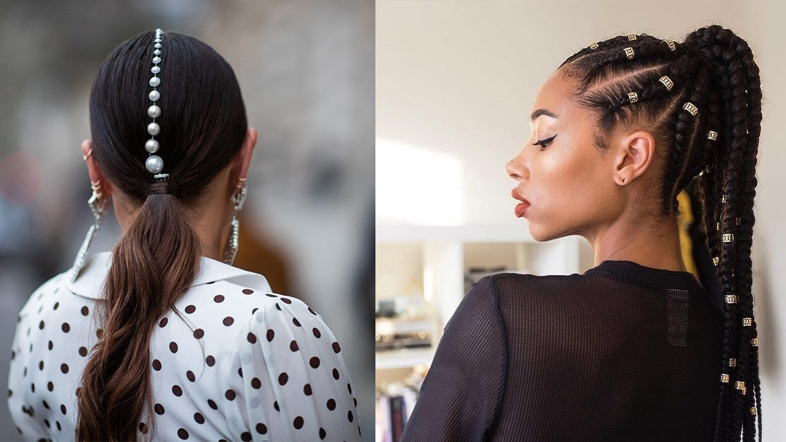 High Low Braided Ponytail
