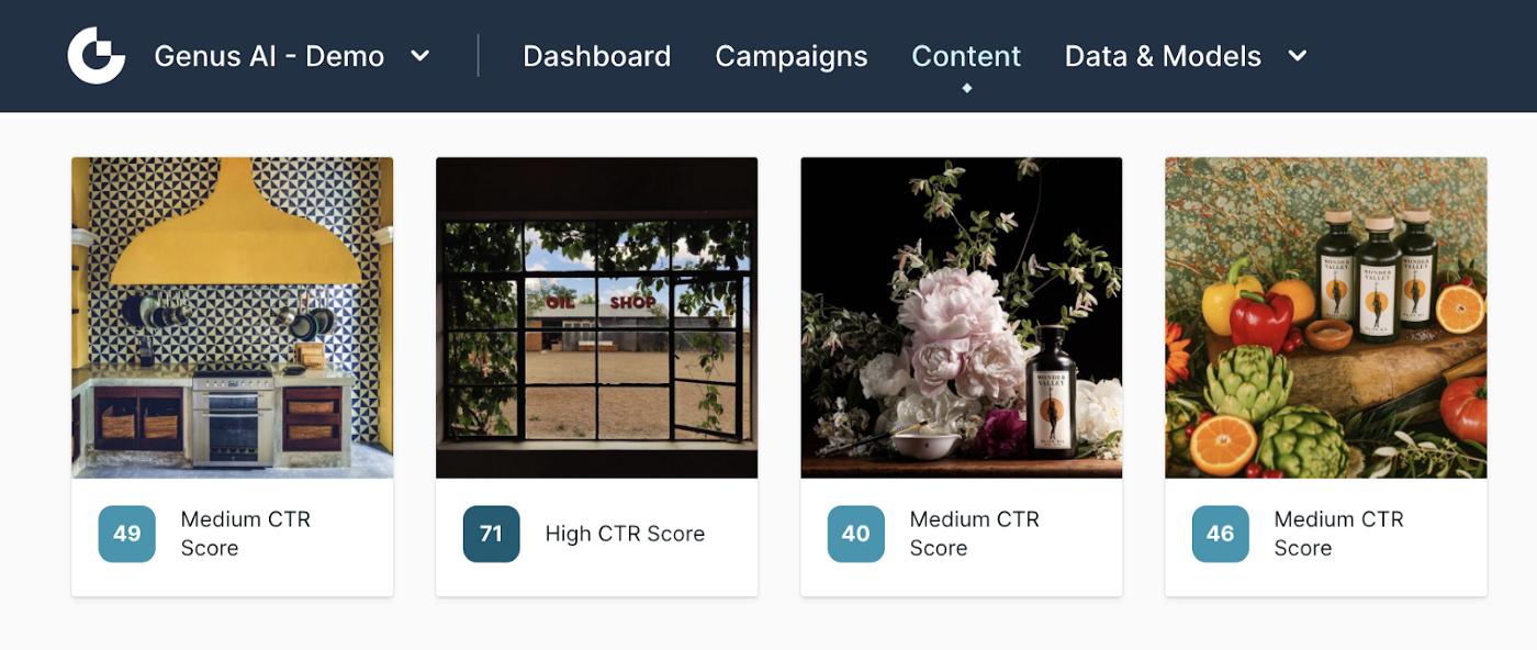 Image CTR model can instantaneously evaluate your ads and rank them in terms of their likelihood to generate click-throughs.