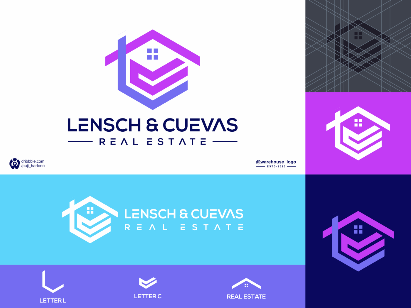 lc real estate logo template