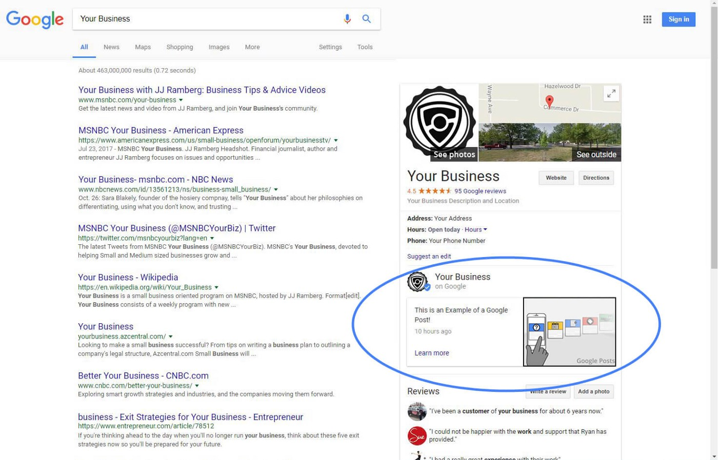 PUT YOUR BEST CONTENT FORWARD WITH GOOGLE POSTS