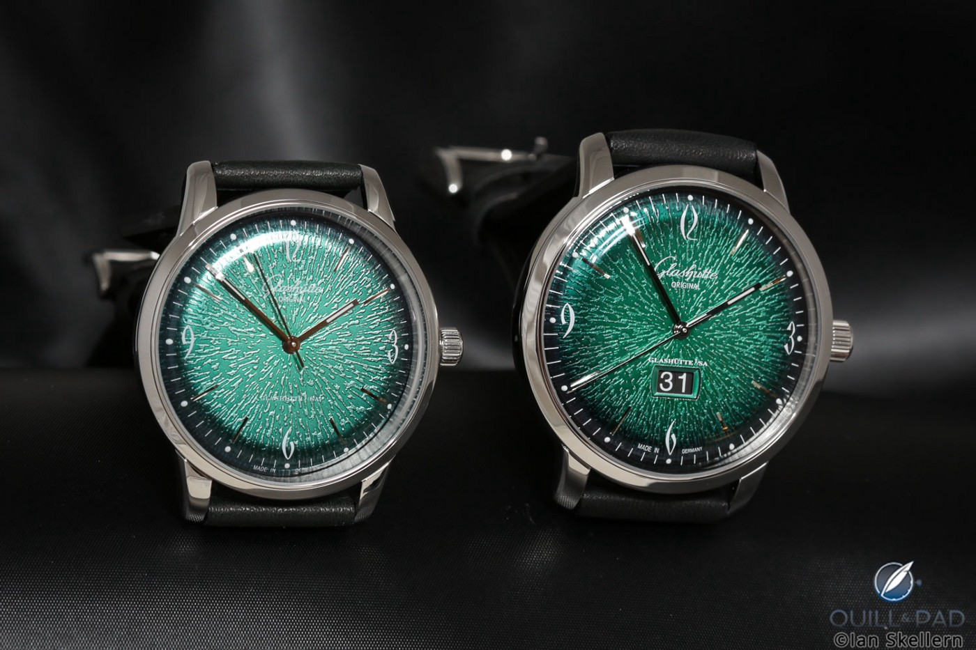 Glashütte Original Sixties Green with and without date
