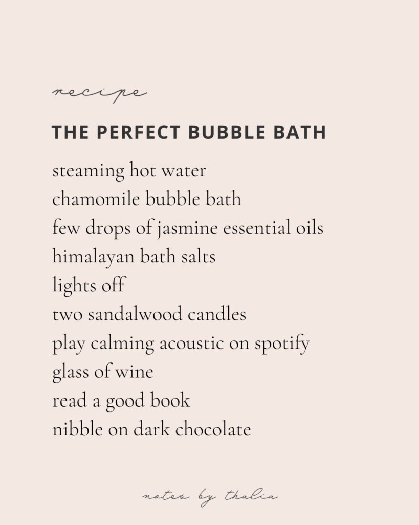 The perfect bubble bath recipe to help ease yourself into life after lockdown and continue to take care of your well being