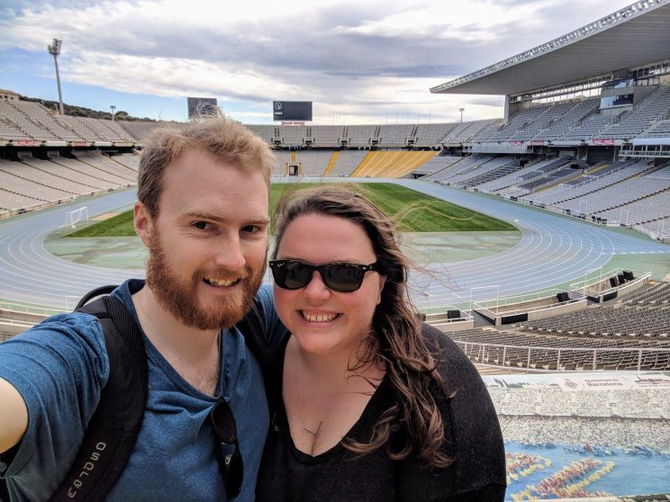 Me and Alex in the Olympic stadium