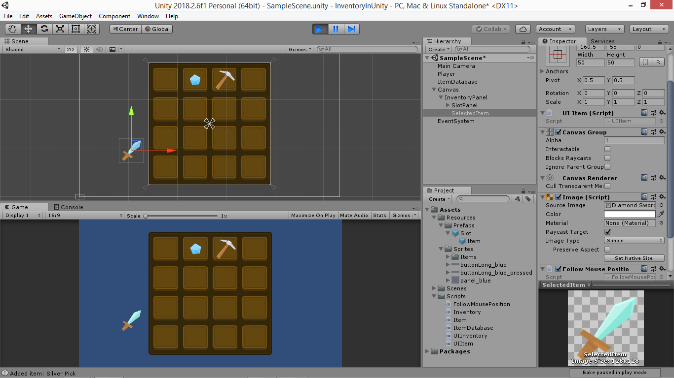 Create an Unity inventory part 5: Drag and drop - Yone Moreno
