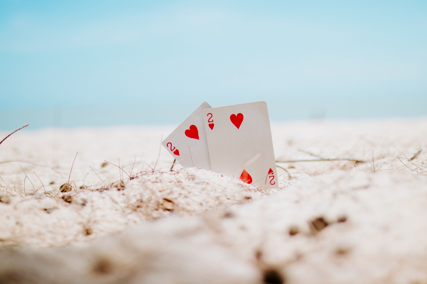 Two deuces, two of hearts