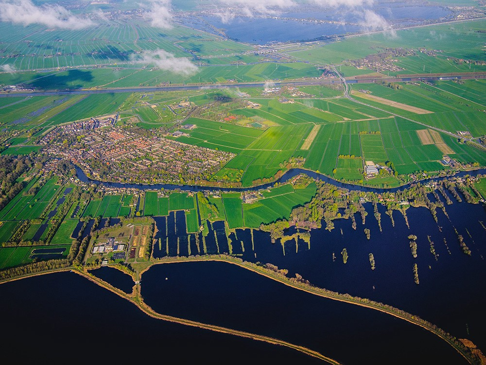 The Netherlands in Aerial View