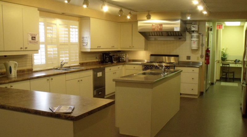 Kitchen from Burlington's Women's Shelter that Cam stayed in
